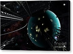 Bright Blisters Of Nuclear Energy Acrylic Print by Brian Christensen