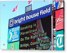 Bright House Field Acrylic Print by Carol Christopher