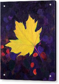 Acrylic Print featuring the painting Bright Leaf by Janet Greer Sammons