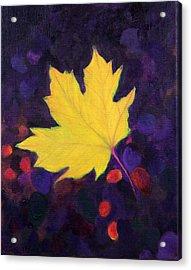 Bright Leaf Acrylic Print