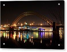Bright Lights Big City Acrylic Print by Jimmy Taaffe