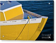 Bright Yellow Boat Acrylic Print