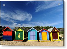 Acrylic Print featuring the photograph Brighton Beach by Yew Kwang