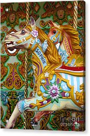 Brighton Carousel Acrylic Print by Anne Gordon