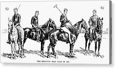 Brighton Polo Club, 1877 Acrylic Print by Granger