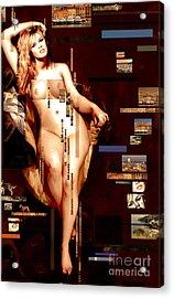 Brigitte Acrylic Print by Karine Percheron-Daniels