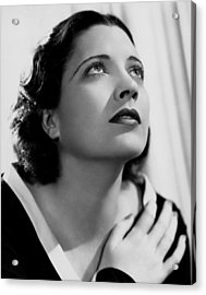 British Agent, Kay Francis, 1934 Acrylic Print by Everett