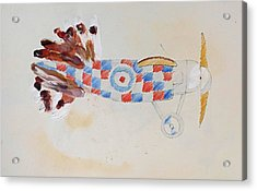 British Bird Plane Acrylic Print by Virginia Stuart