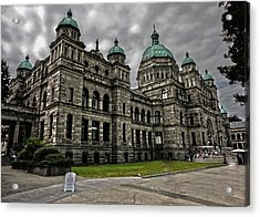 British Columbia Parliament Buildings Acrylic Print by Gregory Dyer