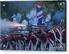 British Night Battle Acrylic Print by JT Lewis