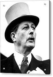British Prime Minister Harold Acrylic Print by Everett