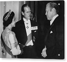 British Royalty. From Left  Queen Acrylic Print by Everett