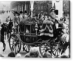 British Royalty. In Carriage, From Left Acrylic Print by Everett