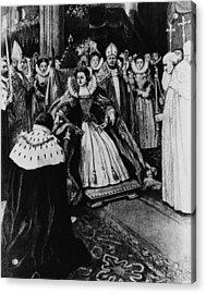 British Royalty. Queen Elizabeth I Acrylic Print by Everett