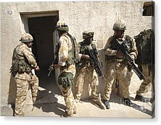British Troops Training In Iraq Acrylic Print by Andrew Chittock
