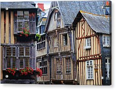 Acrylic Print featuring the photograph Brittany Buildings by Dave Mills