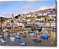 Brixham Harbour Devon Acrylic Print