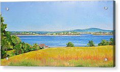 Broad Cove From Bremen Acrylic Print
