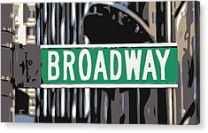 Broadway Sign Color 6 Acrylic Print