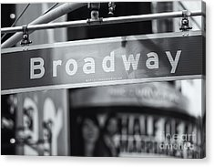 Broadway Street Sign II Acrylic Print by Clarence Holmes