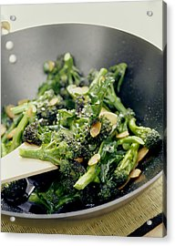 Broccoli Stir Fry Acrylic Print by David Munns