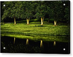 Broemmelsiek Park Green Acrylic Print by Bill Tiepelman