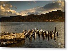Broken Dock, Loch Sunart, Scotland Acrylic Print by John Short