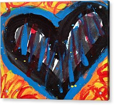 Broken Heart And Power Of Love Collide Acrylic Print by Bethany Stanko