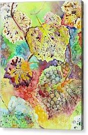 Broken Leaf Acrylic Print by Karen Fleschler