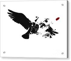 Broken Peace Acrylic Print by Pixel Chimp