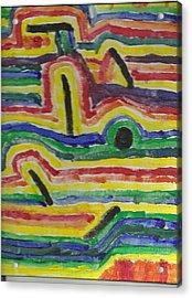 Broken Rainbow Acrylic Print by David Rubin