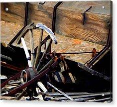 Broken Wagon Wheel Acrylic Print