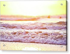 Broken Waves Acrylic Print by Sasha Bell