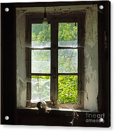 Broken Window. Acrylic Print by Bernard Jaubert