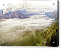 Bromo Volcano Crater Acrylic Print by Photography by Daniel Frauchiger, Switzerland