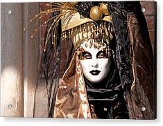 Bronce Mask Acrylic Print by Karin Haas
