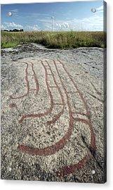 Bronze Age Petroglyph Acrylic Print by Bjorn Svensson