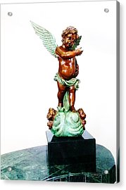 Bronze Angel Acrylic Print by Unique Consignment