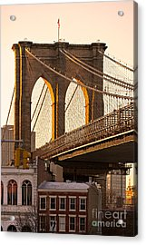 Acrylic Print featuring the photograph Brooklyn Bridge - New York by Luciano Mortula