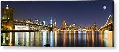 Brooklyn Bridge - Reflections Acrylic Print