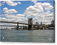 Brooklyn Bridge And Skyline Acrylic Print by Louise Mingua