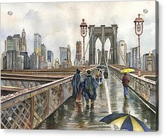 Brooklyn Bridge Acrylic Print by Anne Gifford