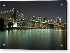 Brooklyn Bridge At Night 4 Acrylic Print