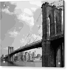 Brooklyn Bridge Bw16 Acrylic Print by Scott Kelley