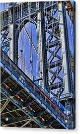 Manhattan Bridge Close-up Acrylic Print by David Smith