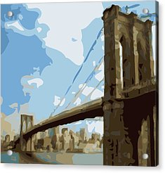 Brooklyn Bridge Color 16 Acrylic Print