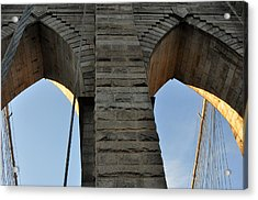 Brooklyn Bridge Acrylic Print by Diane Lent