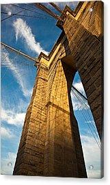 Brooklyn Bridge End Of The Day Acrylic Print by Patrick  Flynn