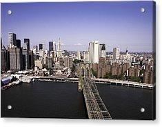 Acrylic Print featuring the photograph Brooklyn Bridge by Paul Plaine