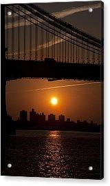 Brooklyn Bridge Sunrise Acrylic Print